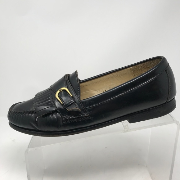 Cole Haan Other - Cole Haan Black Leather Kilt Buckle Loafers 9 D